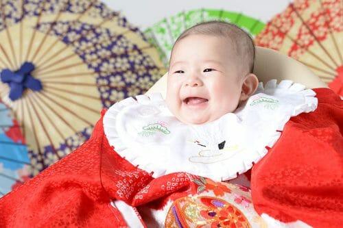 赤ちゃん 女の子 百日祝い 100日祝い 富山 高岡 写真 かわいい はだか 着ぐるみ