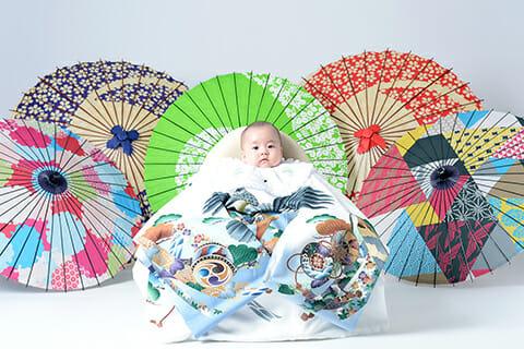 赤ちゃん 男の子 百日祝い 100日祝い 富山 高岡 写真 かわいい はだか 着ぐるみ