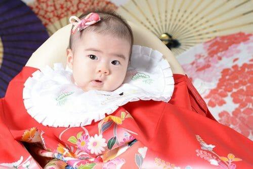 赤ちゃん 女の子 百日祝い 100日祝い 富山 高岡 写真 かわいい はだか
