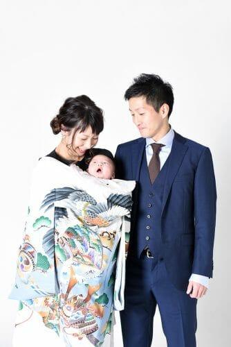 赤ちゃん 男の子 百日祝い 100日祝い 富山 高岡 写真 かわいい はだか 着ぐるみ 家族写真