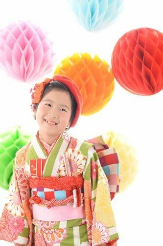 七五三はひまわり 753 撮影 富山 高岡市 射水神社 貸衣装 レンタル 女の子