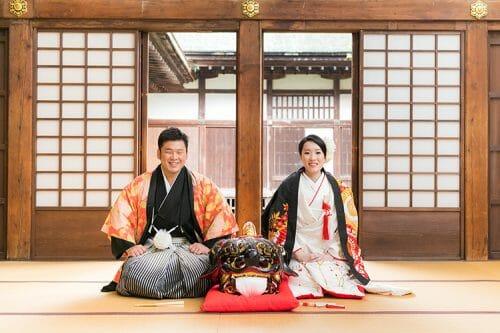 全国的にみても富山県が屈指の継承されている獅子舞と一緒にウェディングフォトを撮りました