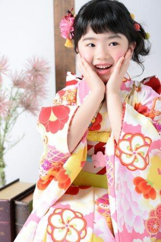 七五三 女の子 衣装レンタル かわいい 7才 四つ身 射水神社 お参り 高岡 富山 砺波